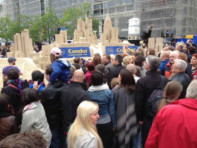 Sandskulpturen Frankfurt Wolkenkratzerfestival