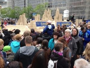 Sandskulpturen FFH Wolkenkratzerfestival