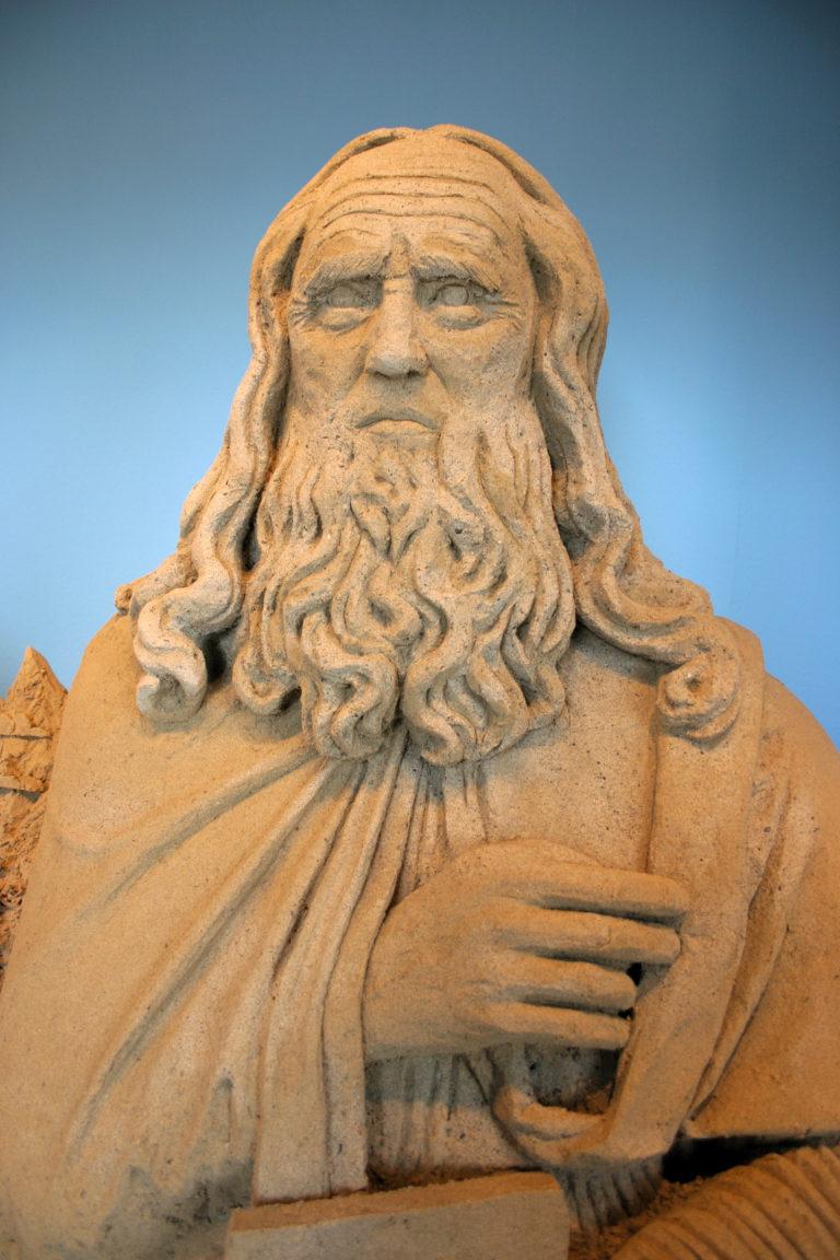 Sandskulptur Leonardo Da Vinci