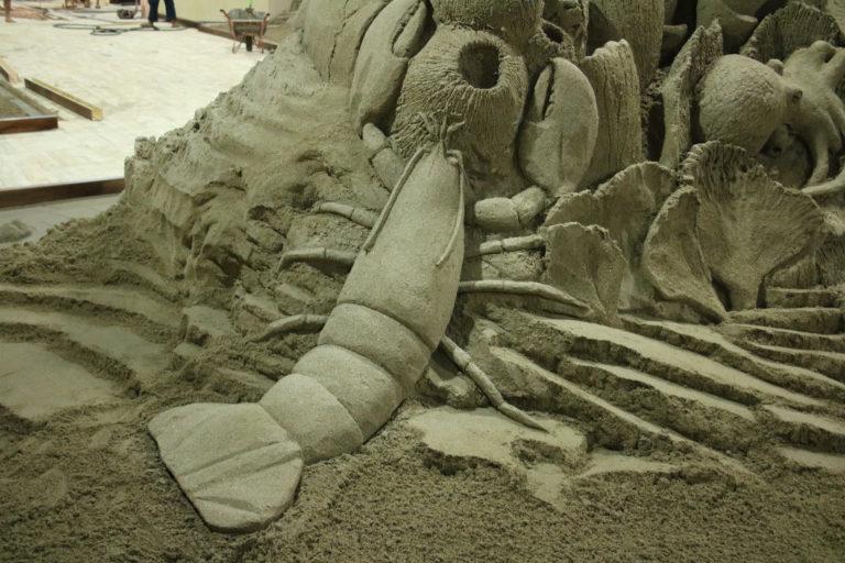 Sandskulptur Unterwasser